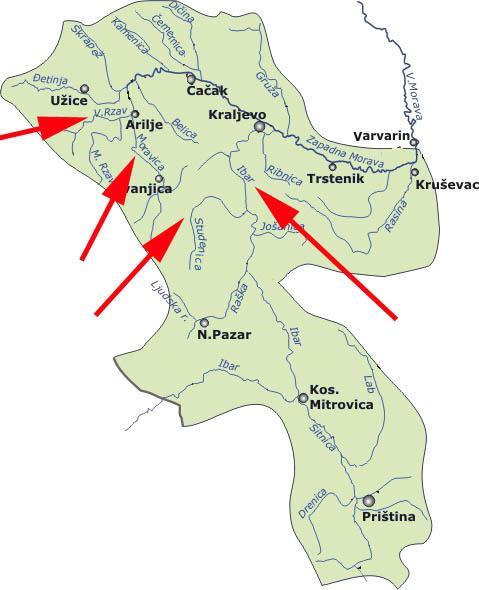 Mape Rafting Srbija Klub Ekstreminih Sportova Tifran