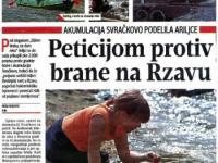 Peticijom protiv brane na Rzavu