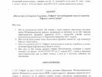 Odluka o isključenju SU Tifran iz Rafting saveza Srbije i žalba na odluku